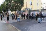 Alex-Nieto-1st-SFPD-murder-anniversary-Black-Lives-Matter-blocking-driveway-Mission-Police-Stn-032315-by-Jesús-Barraza