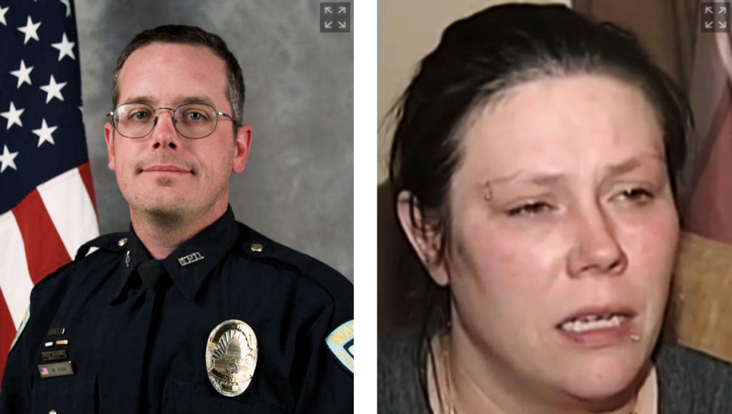 Officer Matt Kenny also killed another man in 2007.  Andrea Irwin called for street protests when her son was killed.