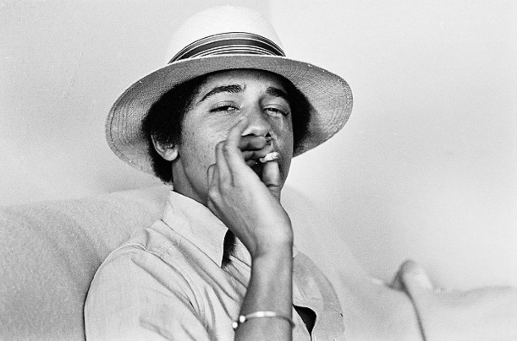 Barack Obama smoking Marijuana