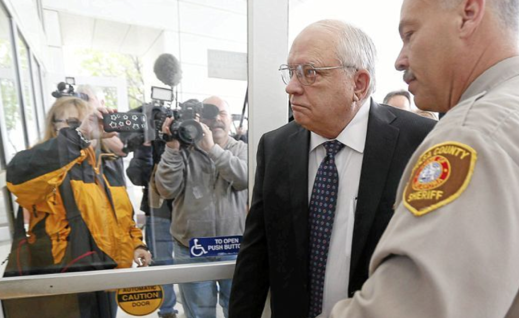 Robert Bates turns himself in to authorities at the Tulsa Jail in Tulsa, Okla., on Tuesday, April 14, 2015