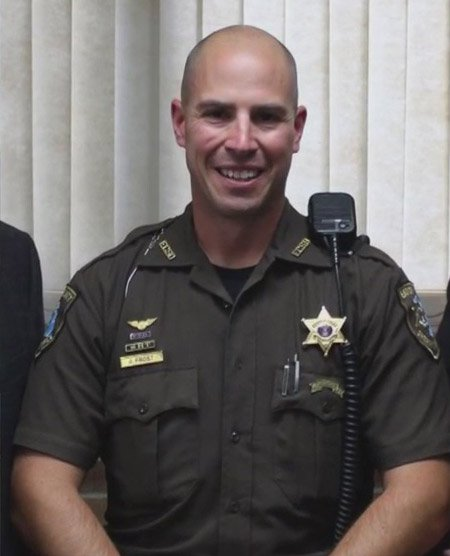 Eaton County Sheriff's Sergeant Jonathan Frost, who shot and killed the unarmed teen