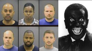 freddie-gray-cops-blackface