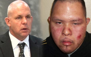 Left: San Diego County Sheriff's Deputy Jeffrey Guy; Right: Anthony Martinez