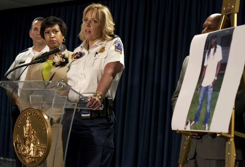 D.C. Mayor Muriel E. Bowser, seen here to the left of Police Chief Cathy L. Lanier, will ask the D.C. Council for expanded police powers to detain those who violate terms of parole and probation.
