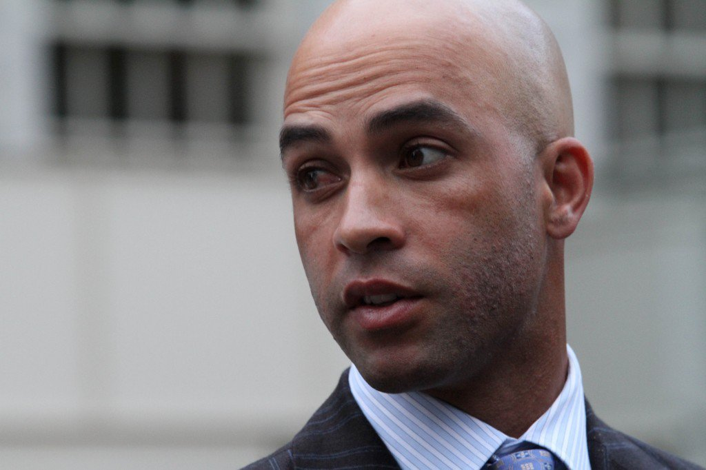 Tennis star James Blake, after he was tackled by NYPD officers.